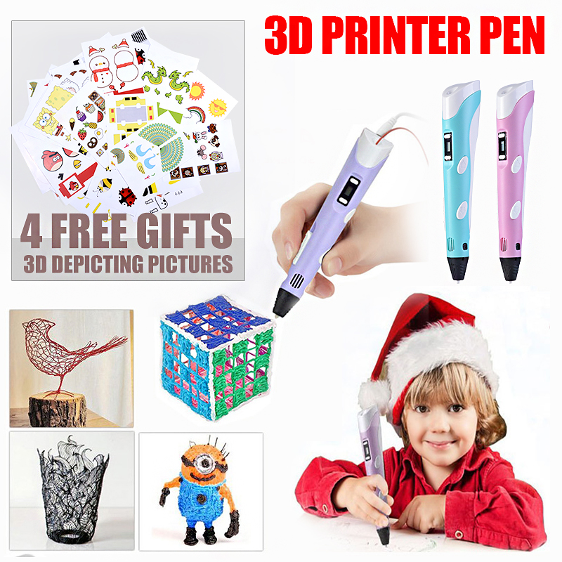 DIY Creative 3D Printer Pen Set Toys For Children Plastic Drawing Arts And Crafts kids Painting Educational Christmas Gifts
