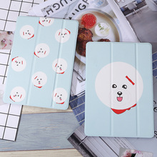 Cartoon Bichon Frise Slim Smart Case Cover For iPad Air 1/2 New 2017 Stander 234 mini Auto Wake Up/Sleep