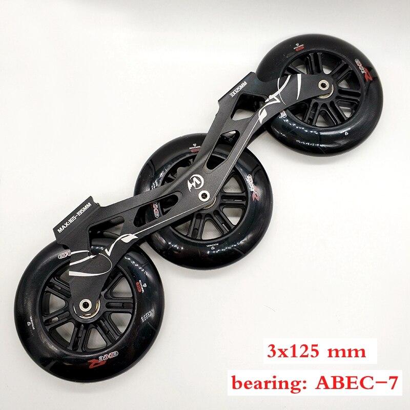 free shipping speed skates frame Mcgala 3 x 125 mm frame wheel
