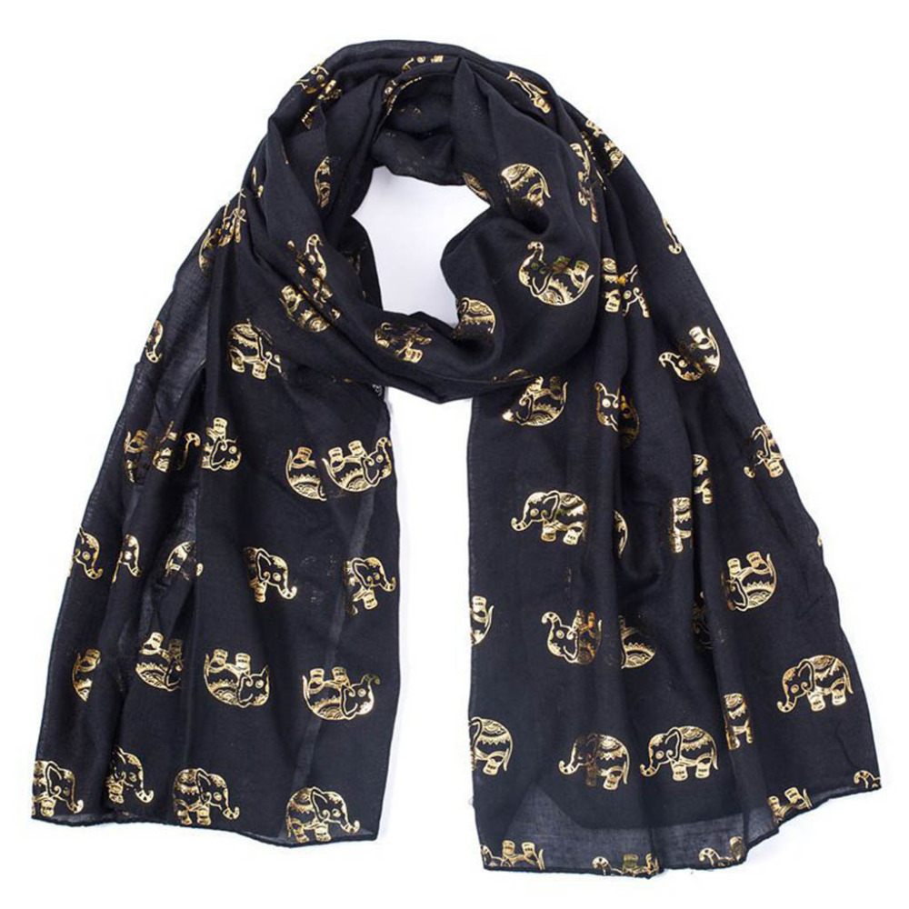 Winter Women Lady Hot Stamping Elephant Cartoon Pattern   Scarf     Wrap   Shawl