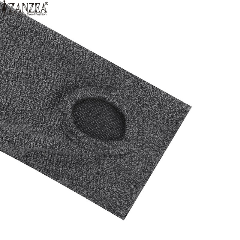 ZANZEA Women Sweater Dress 2018 Autumn Long Sleeve Asymmetric Hem Casual Loose Knitted Midi Vestidos Women Clothes Plus Size 5