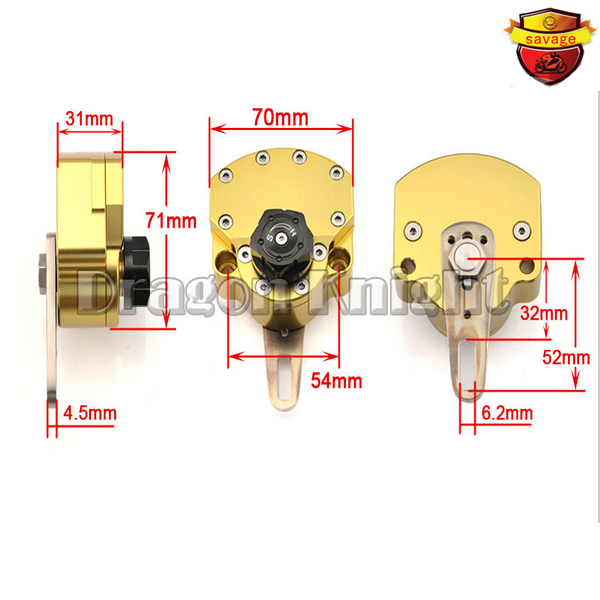 Motorcycle accessories gold stabilizer steering damper