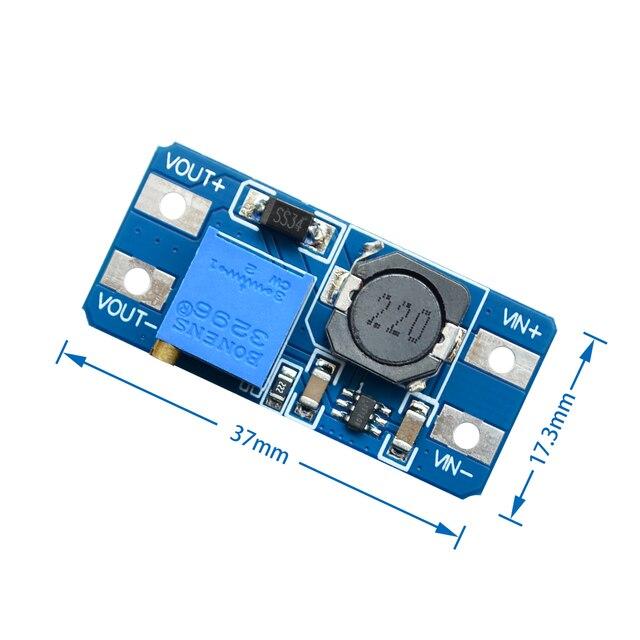 10 unids/lote MT3608 2A Max DC-DC Módulo de aumento de potencia para