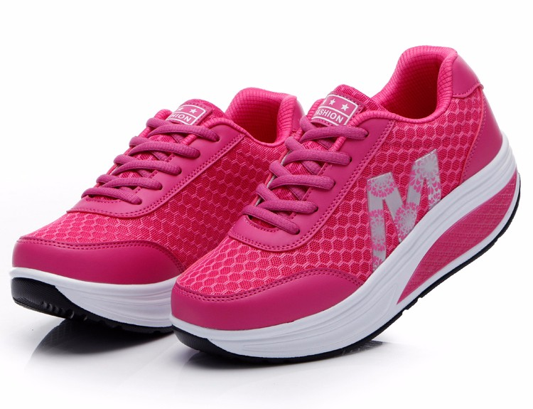 Slimming Shake shoes Women Fashion Breathable Mesh Casual Shoes Spring Summer Lace Up Women Swing Shoes Platform Trainers YD52 (23)