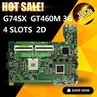 G74sx用asus rev 2.0ノートブックマザーボード2dコネクタ8メモリGT460Mオリジナル新しい100%テスト済