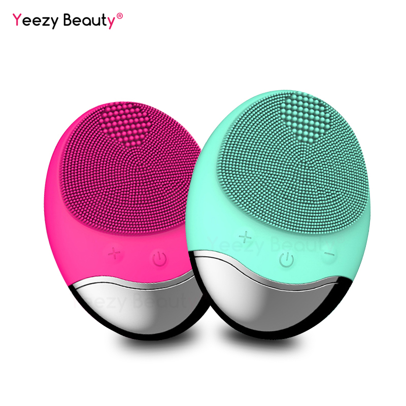 New Wireless charge Electric Face Cleaning Brush Massage Waterproof Anion Imported mini Facial Cleansing Devices Silicone