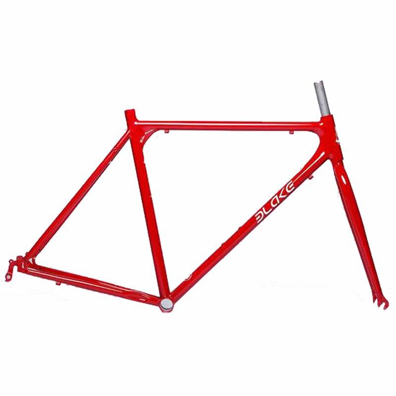 Bike-Accessories Bicycle-Frame Frameset Fixed-Gear Road-Bike Match-Fork Steel 53/48cm