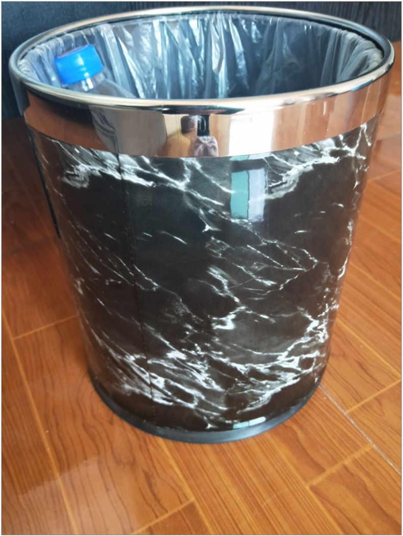 Teste Padrão de mármore 10L Baldes de Lixo Pode Bin 27 23 Diâmetro cm de Altura cm Caixotes do Lixo Caixote do Lixo Da Cozinha Do Banheiro Sala de estar trash Bin