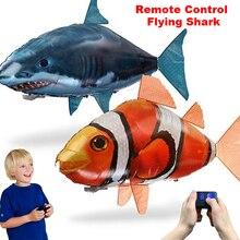 Игрушки акулы с дистанционным управлением, воздушные плавательные рыбки, инфракрасные радиоуправляемые летающие воздушные шары, рыба-клоун Немо, пульт дистанционного управления, Воздушный самолет, детские игрушки