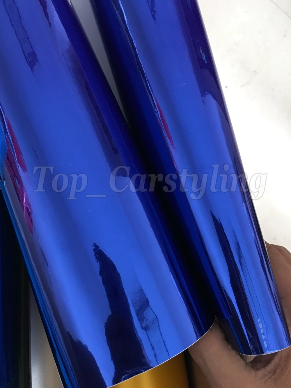 chrome blue mirror stm hexis car wrapping film high stretchable flexible (8)
