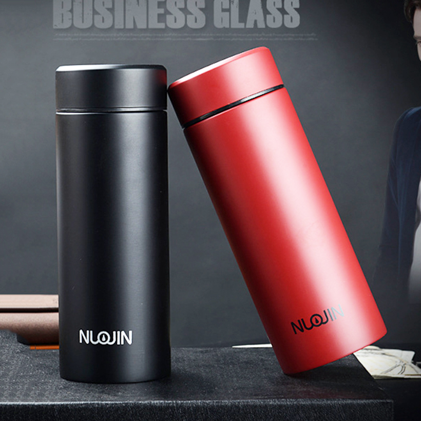 350ML Thermos Cups Double Insulated Travel Mug Stainless Steel Water Bottle Vacuum Flasks For Gifts Drink Coffee Cup 4 Color
