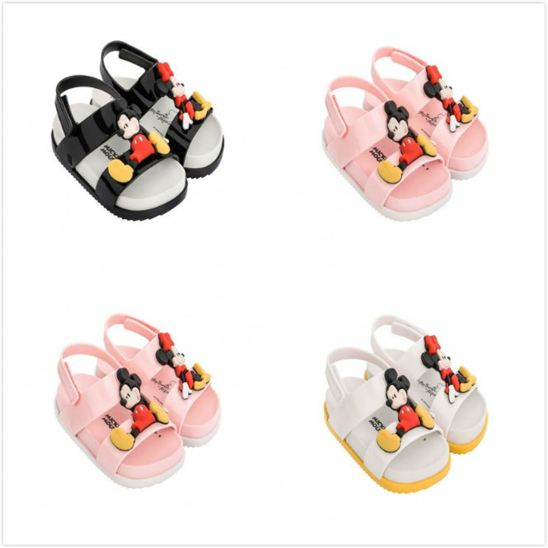 EMS DHL Free Melissa Girls Sandals Cartoon Shoes Baby Girls Sandals Mouse Anti Skid Melissa Beach