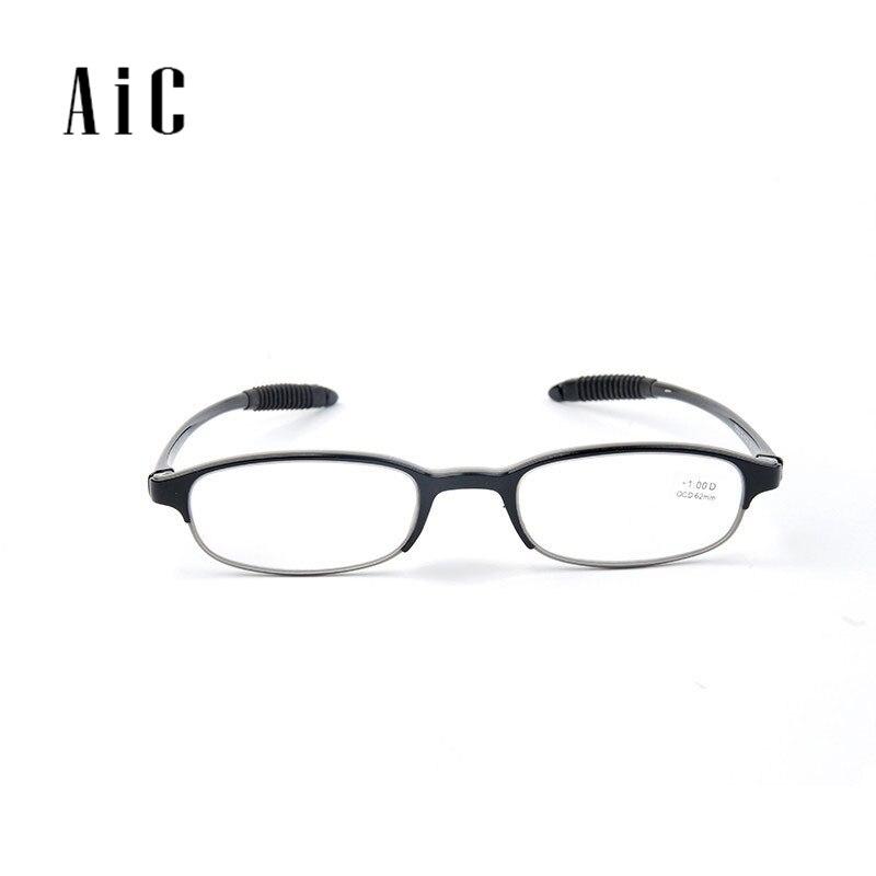 82f44b159 Aic TC222 ماركة نظارات القراءة الرجال والنساء عامة يسهل حملها مادة الراتنج  عدسة tr90 خفيفة
