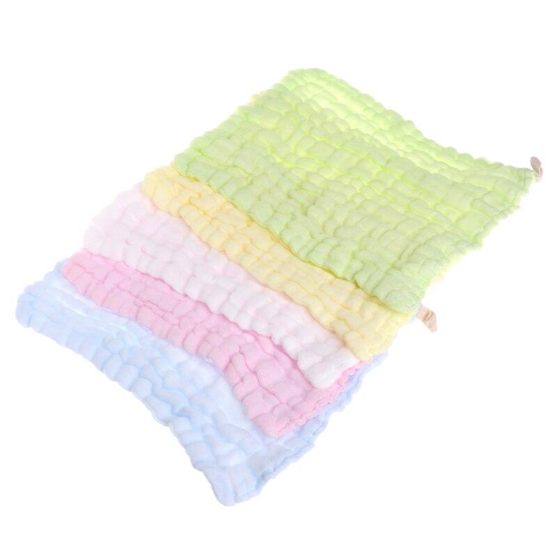 US Super Soft Cotton Baby Infant Newborn Bath Towel Washcloth Feeding Wipe Cloth
