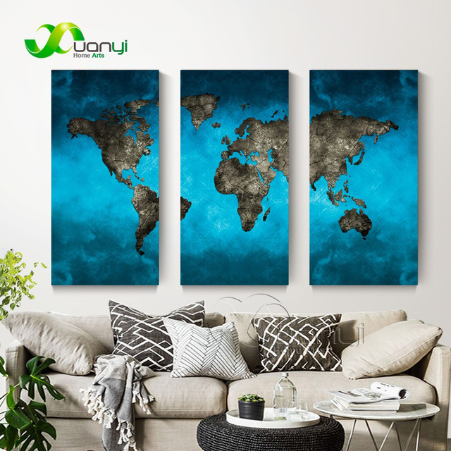 3 panel canvas wall paintings world map art modern paintings for 3 panel canvas wall paintings world map art modern paintings for living room unframed wall pictures gumiabroncs Choice Image