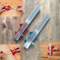 Multifunctional Woodworking Ruler Universal Tool Ruler Scribe Tool