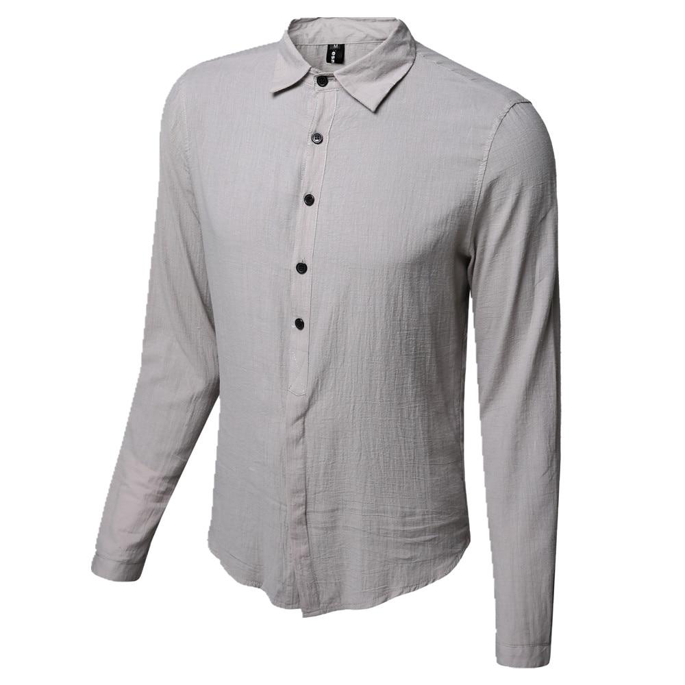 d9a05565274 2019 New Summer Hot Thin Lightweight Hawaiian Shirt Men Cool Solid Cotton  Linen Long Sleeve Casual Men Shirts M XXL AYG238-in Casual Shirts from Men s  ...