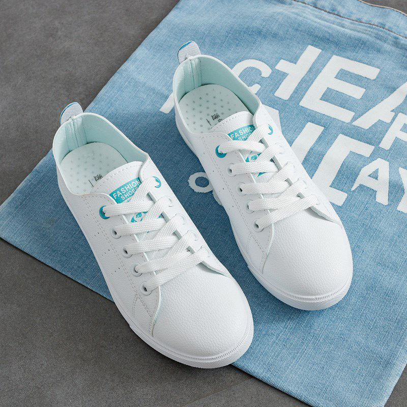Women Sneakers Lace-Up Women Flats Breathable Casual