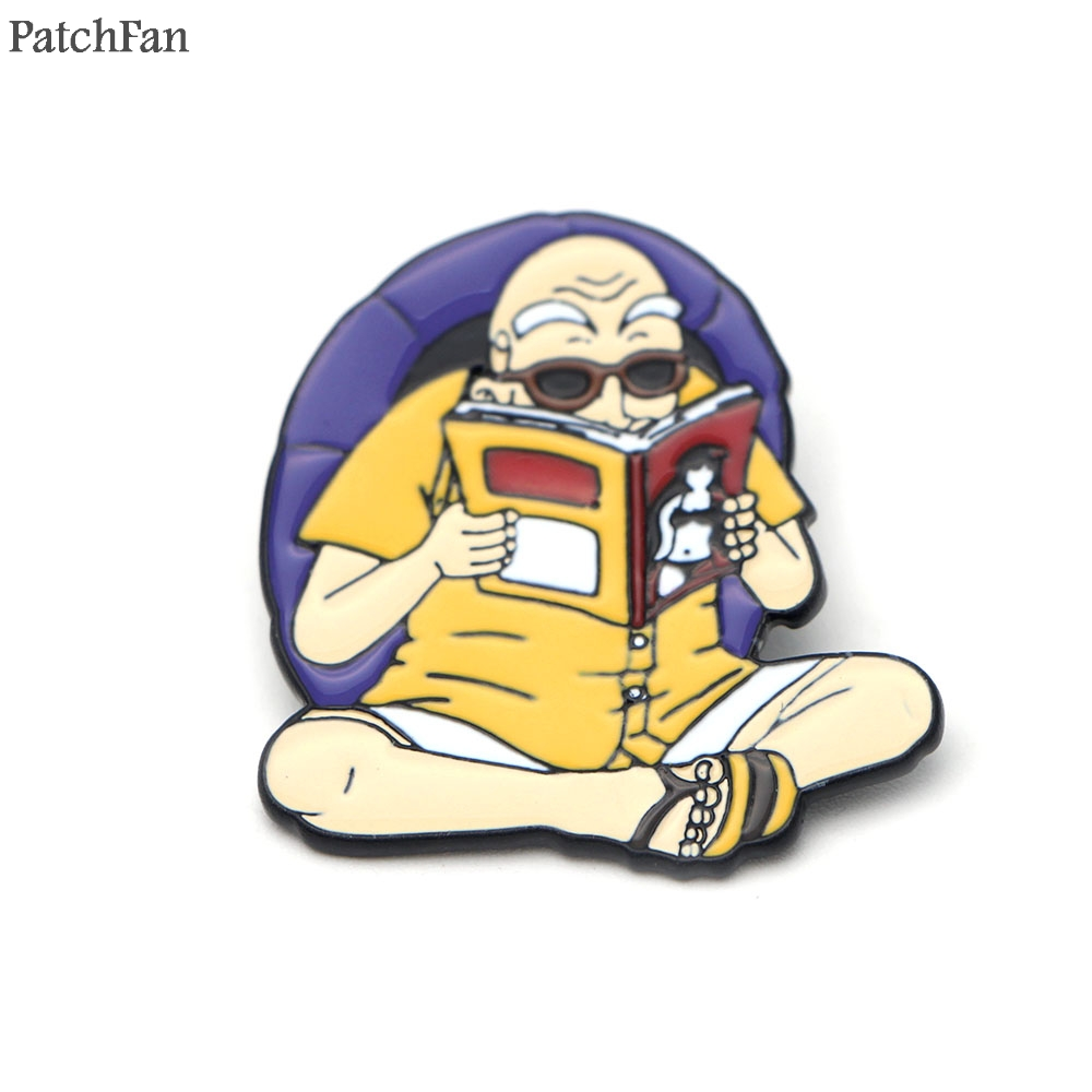 Arts,crafts & Sewing 20pcs/lot Patchfan Dragon Ball Kame Sennin Zinc Charm Cartoon Pins Para Shirt Brooches Insignia Clothes Backpack Badges A0806 Diversified Latest Designs