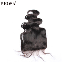 Body Wave 5x5 Lace Closure Brazilian Remy Hair Baby Hair Bleached Knots 100 Human Hair Prosa