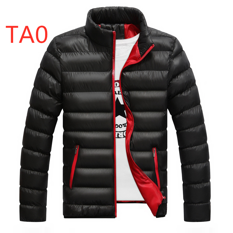 TA0 Men's Feathers Duck   Down   Jackets Custom Velvet Male Winter Autumn Zipper Unisex Mans Light Slim Duck Casual Large Size   Coats