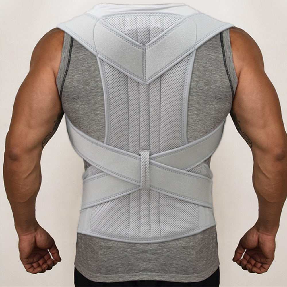 Adjustable Sports Safety Back Support Corset Spine Support Belt Posture Corrector Back Shoulder High Quality Material Corset MenAdjustable Sports Safety Back Support Corset Spine Support Belt Posture Corrector Back Shoulder High Quality Material Corset Men