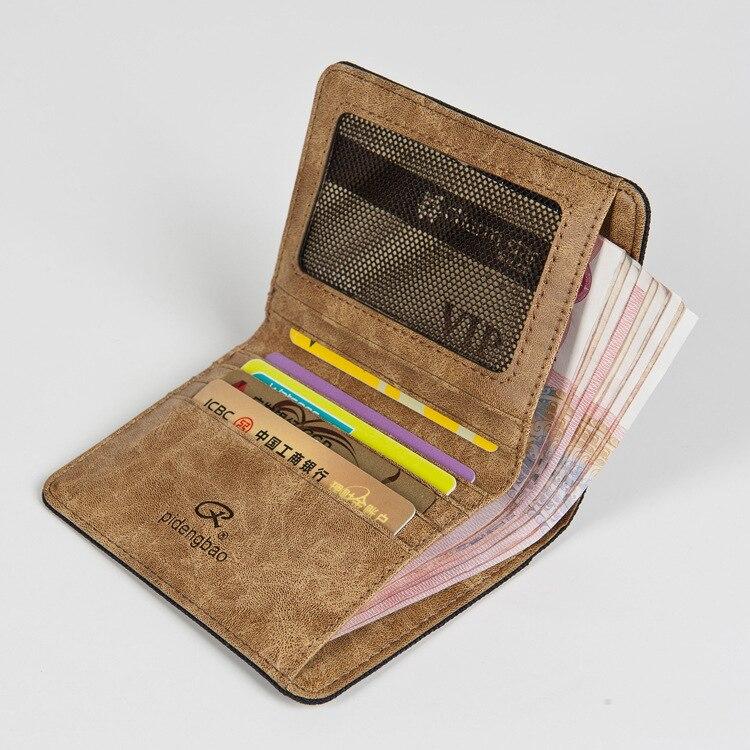 New High Grade Men Canvas Wallet Creative Design Business Card Purse ...