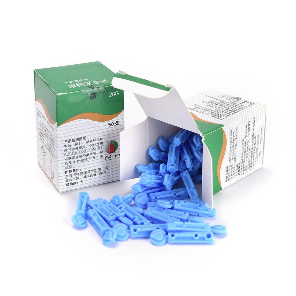 New 50PCS Needles Massage Stick Use For Pen Disposable Sterile Lancets Fleam Vent Drain Blood Lancet Dedicated 28G