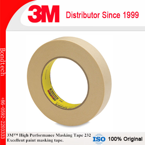 1/2''X55M (Pack of 2) 3M 232 Scotch High Performance Masking Tape for Medium temperature paint bake operations 1 x55m 3m 232 scotch high performance masking tape for medium temperature paint bake operations