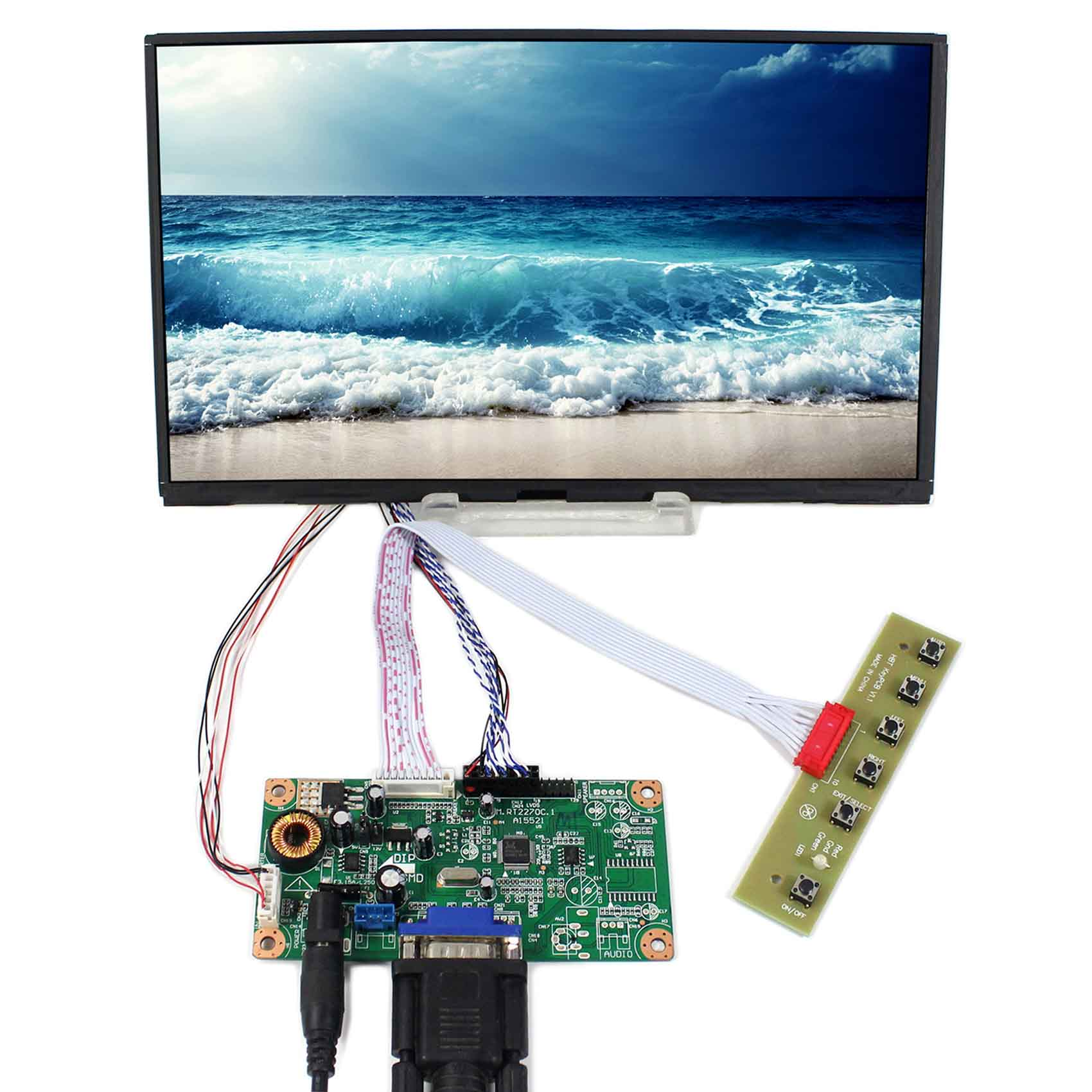 VGA LCD Controller Board RT2270C-A With 10.1inch 1366x768 B101XAN01.3 IPS LCD Screen Model LCD for Raspberry Pi vga hdmi lcd controller board for lp156whu tpb1 lp156whu tpa1 lp156whu tpbh lp156whu tpd1 15 6 inch edp 30 pins 1 lane 1366x768