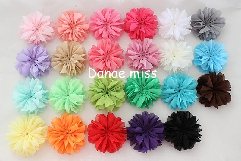 cm bailarina flores flores de la gasa tela flores para diademas nios accesorios