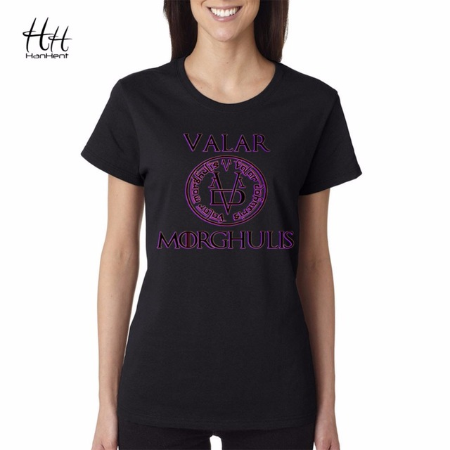 Slim Fit Valar Morghulis Game Of Thrones T Shirts