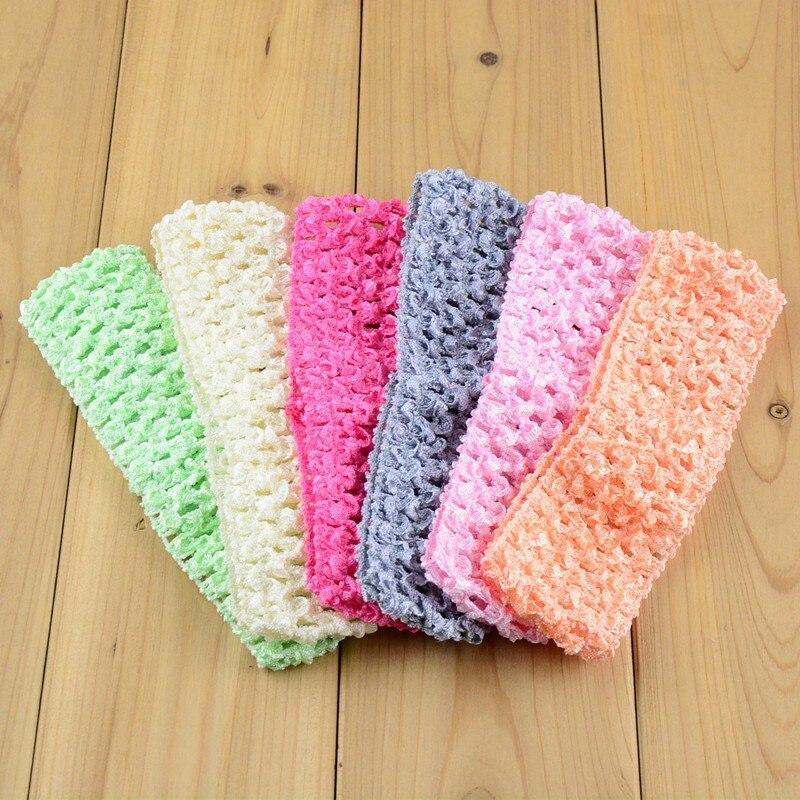 Girls Crochet Headband Width 1.5 inch 5 pack you choose color