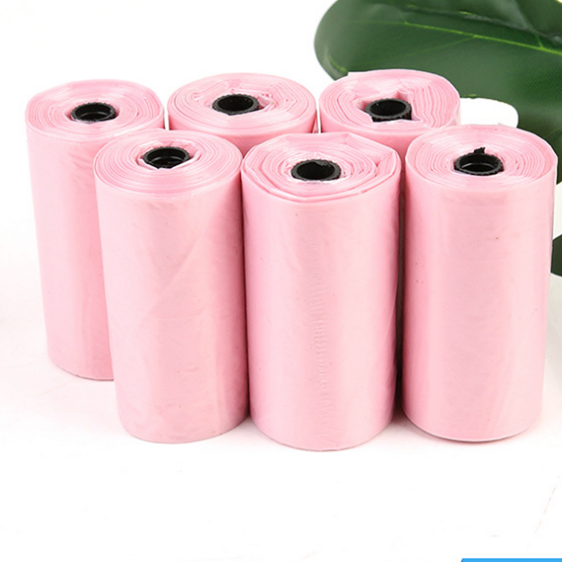 30 Rolls 450 Pcs Pet dog Garbage Bag Pink Biodegradable Fecal bags Clean up Garbage Bag Outdoor Toilet Pick Up Bags Pet Supplies image