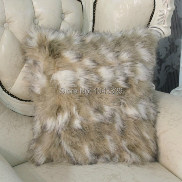 Wholesale! Luxurious fur wrasse rabbit hair Fur pillow cover Home decoration pillow cushion sofa cushions Car Cushion 45cm*45cm