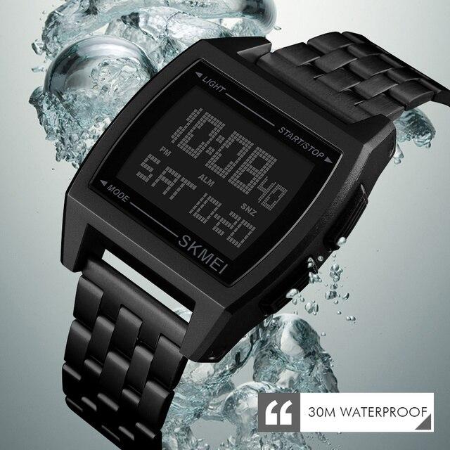 SKMEI montre de Sport militaire hommes marque haut de gamme montre-bracelet électronique de luxe montres numériques à LED pour horloge masculine Relogio Masculino
