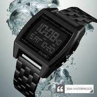 Skmei relógio esportivo militar luxuoso  relógio led digital de pulso para homens  relógio digital de marca luxuosa