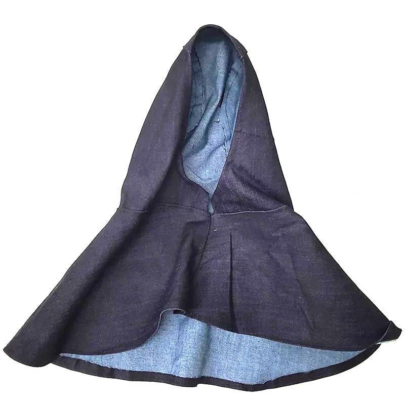 New Denim Fabric Welding Hood Head Neck Welding Protective Hood Flame Retardant Wear Resistant Welder Safety Cover Cap