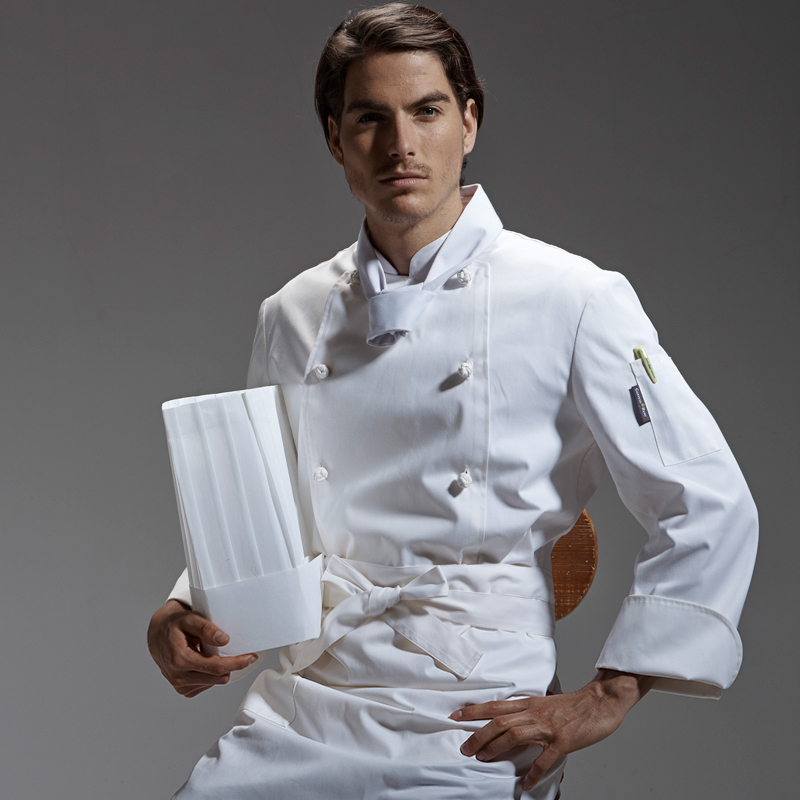 2019 Spring New Arrival Food Service Long Sleeve Chef Jacket Breathable Coffee Bar Chef Uniform For Man