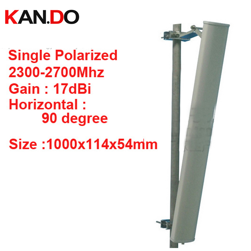 17dbi вертикальной поляризации 90 градусов 2300 2700 мГц Панель Антенна 2.4 г Wi Fi антенны базовой станции Используйте FDD 4 г антенны, tdd антенны