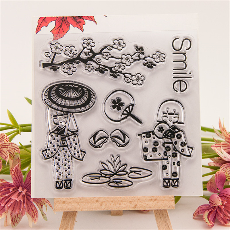 about japan kimono design for diy scrapbooking photo album Transparent Clear Silicone stamp for wedding gift RM-136 loving heart and angel design for diy scrapbooking photo album transparent clear silicone stamp for wedding gift cl 131