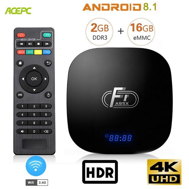 A95X F1 Android TV Box 8.1 Amlogic S905W Core 2 GB DDR3 16 GB eMMC 2.4G 4 K tv box wifi PK mi hộp X96 Max Android BOX TV