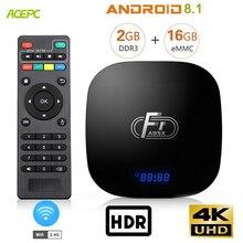 A95X F1 ТВ BOX android 8,1 Amlogic S905W Quad core android бокс ТВ 2Гб DDR3 16 Гб памяти на носителе eMMC Wi-Fi 2,4G 4 K media player Декодер каналов кабельного телевидения компьютерной приставки к телевизору