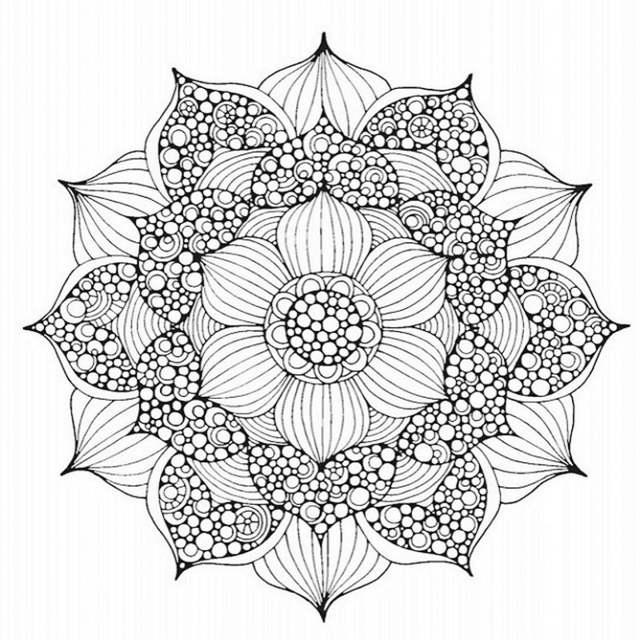 Mandalas Fantasy Creative Coloring Book Relieve Stress Kill Time