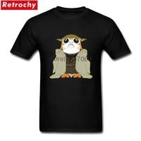 Star Wars Yoda Or Porg T Shirt Men Fashion Short Sleeve O Neck T Shirt Men