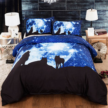 Wolf Printed Comforter Bedding Sets Duvet Cover Double Sheet Set Queen King Twin Size Bed Linen 3d Home Textile Double Bed Cover