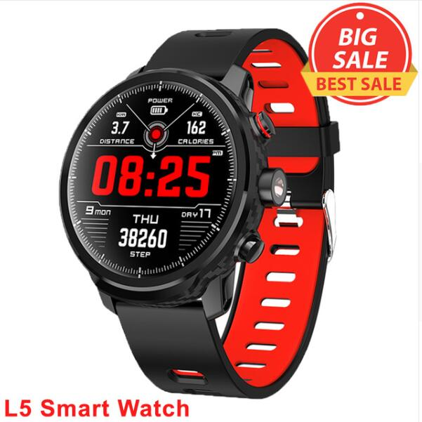 L5 Smart Watch Men Women IP68 Waterproof Multiple Sports Mode Heart Rate Weather Forecast Bluetooth Smartwatch Standby 100 Days