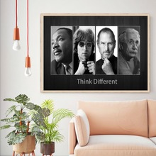 Think Different Vintage Retro Posters & Prints Home Decoration Large  Canvas Painting Modern Wall Art Picture printio apple think different