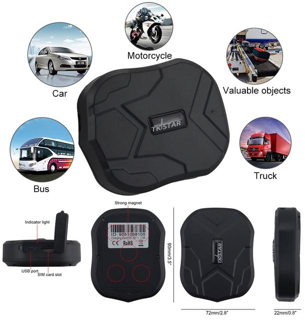 À prova d' água Rastreador GPS Veículo Localizador TK905 Ímã 90 Dias Longa Espera 5000 mAh Da Bateria Em Tempo Real Posição Livre Web APP monitor de