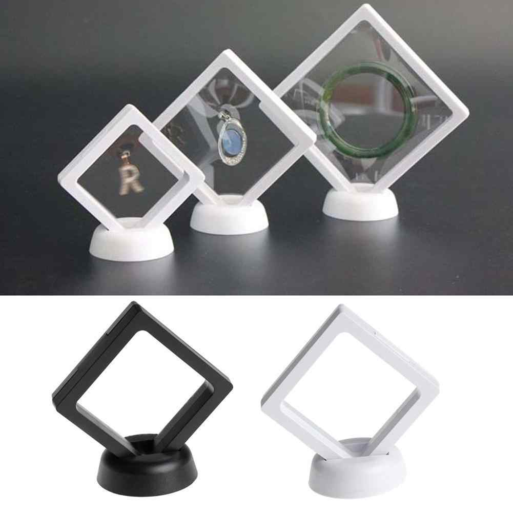 Transparent Jewelry Bracelet Suspended Floating Display Case Stand Holder Box New